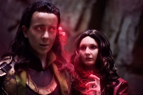 Loki And Scarlet Witch Cosplay