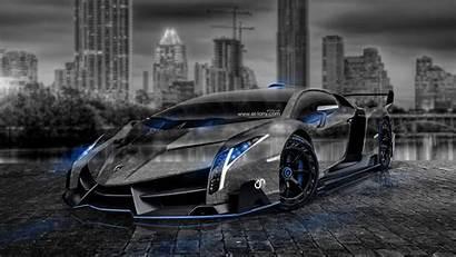 Lamborghini Veneno Wallpapers Crystal Neon Cars Tony