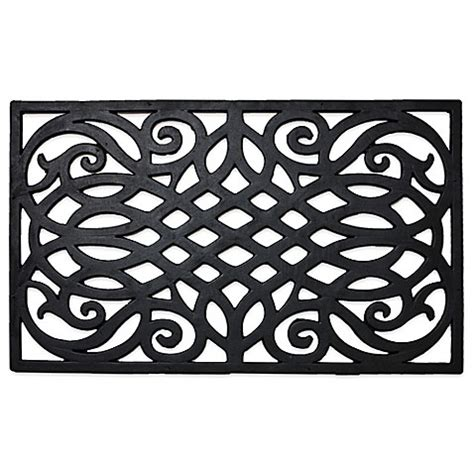 Wrought Iron Doormat by J M Home Fashions Wrought Iron Rubber Door Mat Bed Bath