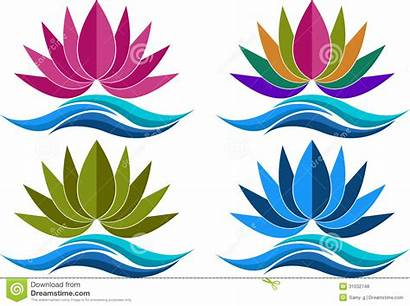 Lotus Logos Loto Raccolta Della Clipart Mandala
