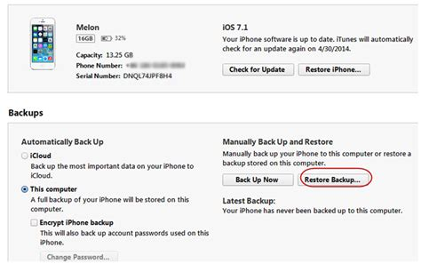 restore iphone backup how to solve ios 7 backup won t restore imobie guide