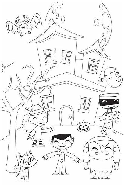 Halloween Printable Activities Coloring Pages Simple Mom