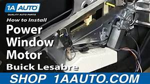 How To Install Replace Rear Power Window Motor 1993