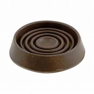 Shepherd 1 1 2 in brown smooth rubber furniture cups 4 for Rubber furniture feet home depot