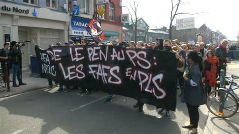 si鑒es sociaux lille lille 450 personnes manifestent contre la venue de marine le pen