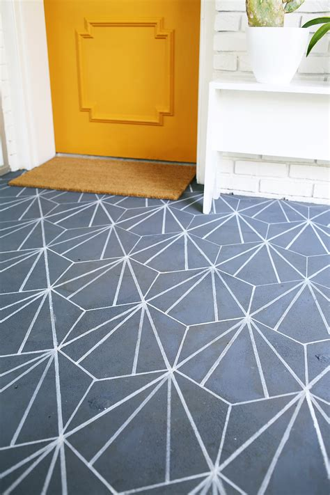 cement tile floor faux cement tile diy a beautiful mess