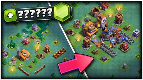 gemming  max clash  clans builders base youtube