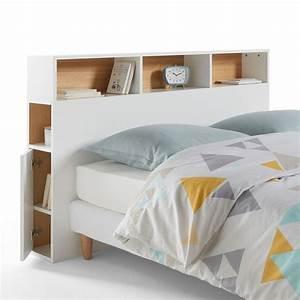 Lit 140 Avec Rangement : tete de lit avec rangement sosturista ~ Teatrodelosmanantiales.com Idées de Décoration
