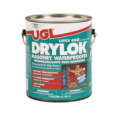Drylok Floor Paint Home Depot by Drylok 1 Gal White Masonry Waterproofer 27513 At The Home