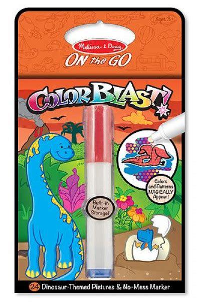 Melissa & Doug krāsojamās grāmatas ar īpašu marķieri, kas radīs brīnumainus zīmējumus Dinozaurs ...
