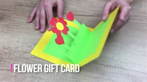 mothers day diy  kids flower gift card  easy