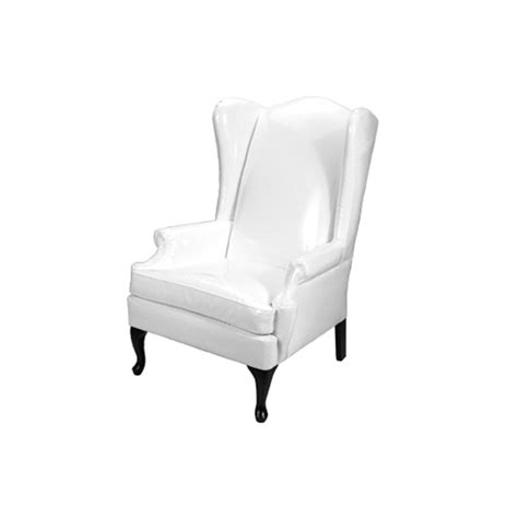 white wingback chairs wingback chair rentals event furniture rental
