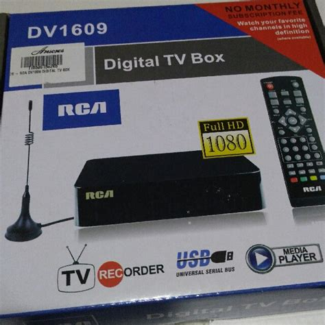 Harga Rca Digital Tv Box rca digital tv box dv1609 electronics tvs