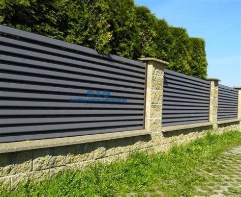 Garten Sichtschutz Holz Lamellen by Aluminium Lamellen Zaun Sichtschutz H 1 0 M B 2 0 M