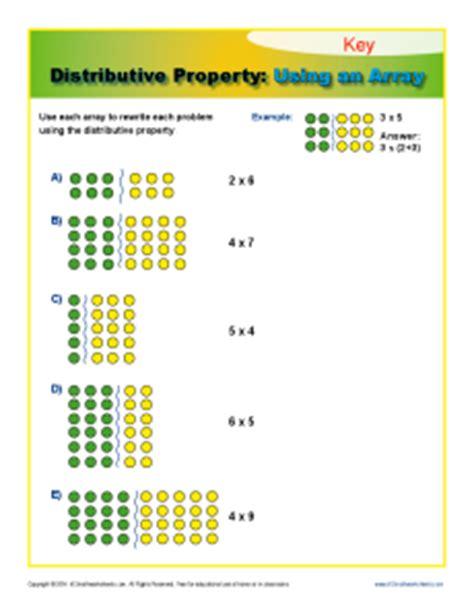 distributive property using an array 3rd grade math