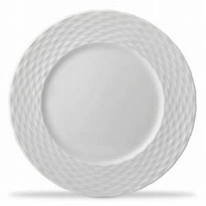 Assiette Plate Blanche : assiette plate blanche 28cm en porcelaine basket pillivuyt ~ Teatrodelosmanantiales.com Idées de Décoration