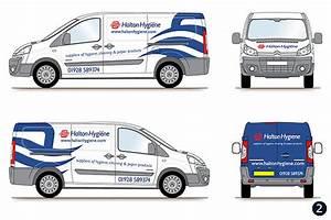 Delivery van graphics livery design halton hygiene runcorn for Vehicle lettering design online