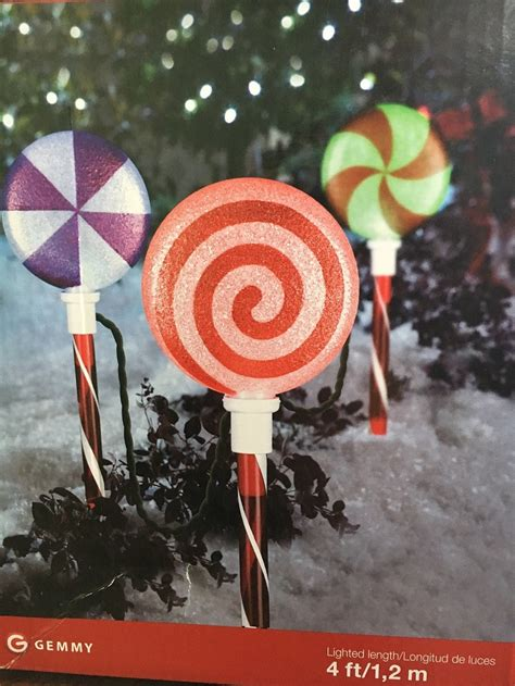 tis  season gemmy lollipop christmas lights