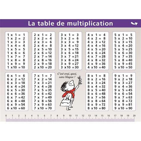 mini poster le petit nicolas table de multiplication la grande r 233 cr 233 vente de jouets et