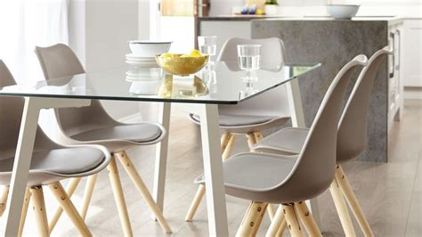 profile  ida    seater glass  grey dining set