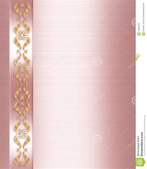 elegant formal invitation border pink satin royalty