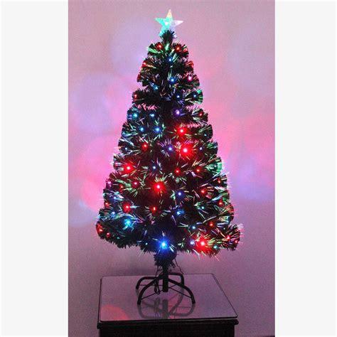 pre lit christmas tree led fibre optic prelit light up