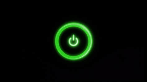 green power button desktop pc  mac wallpaper