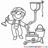 Plumber Sheet Coloring Colouring Pages Sheets Title sketch template