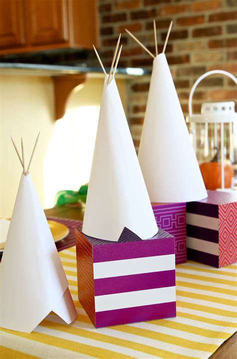 diy teepee kids craft  centerpiece paging supermom