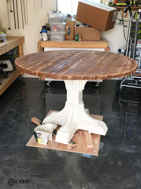 Today i'm going to show you how i built my diy modern farmhouse coffee table out of some amazing rough walnut. DIY Round Table - Shanty 2 Chic
