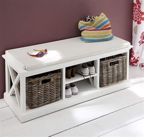 banc dentree ou banc de lit bois blanc massif collection