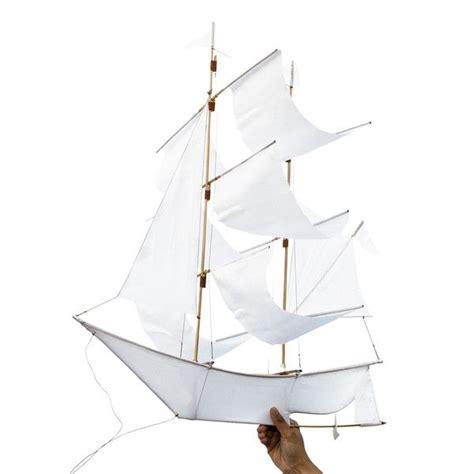 Sailing Boat With Kite by Sailing Ship Kite White