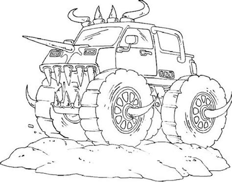 monster truck coloring pages  boys coloring pages