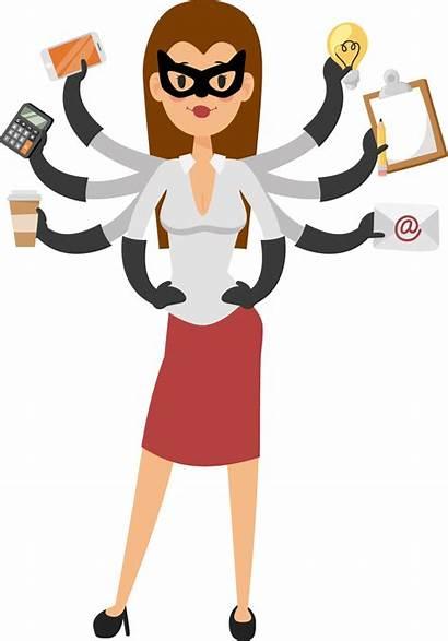 Secretary Busy Events Superhero Secretaries Elementary Lady