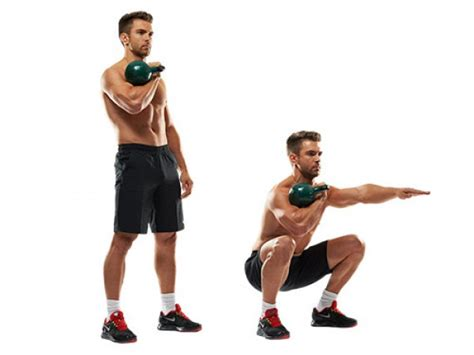 kettlebell squat workout arm single front exercises moves squats kettlebells workouts bell exercise legs vs deadlift crossfit kettle fitness leg