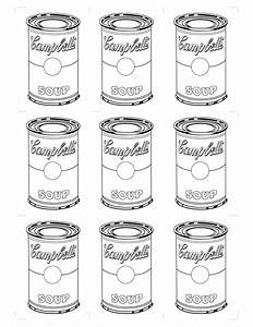 Free coloring pages of blank soup can