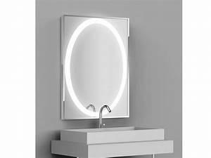 Miroir Rond Led : miroir r tro clair tech 39 no led ovale rectangulaire avec ~ Teatrodelosmanantiales.com Idées de Décoration