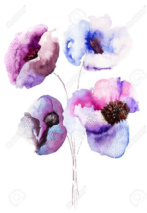abstract watercolor paintings  flowers part    fun