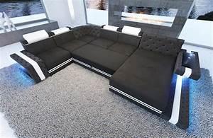 Couch U Form Modern : wohnlandschaft imperial xxl g nstig in u form mit led beleuchtung ~ Bigdaddyawards.com Haus und Dekorationen