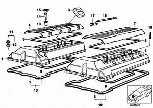 Original Parts For E39 540i M62 Touring    Engine   Cylinder Head Cover