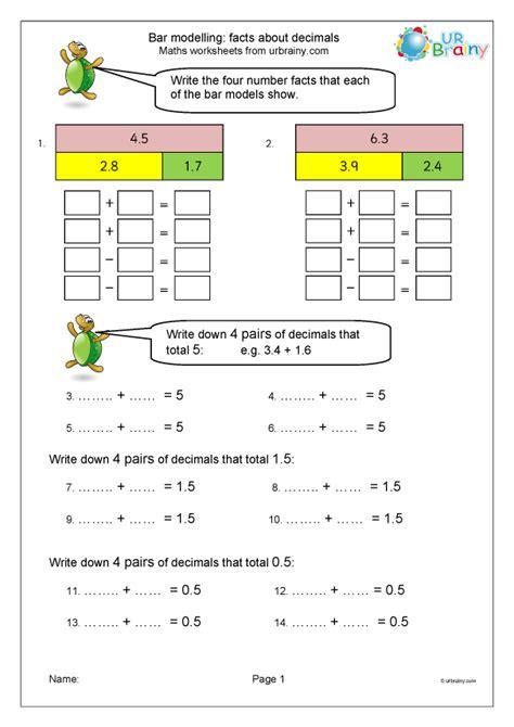 facts  decimal fractions  bar modelling