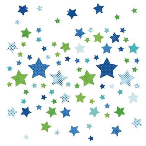 Kinderzimmer Grün Blau kinderzimmer wandsticker sterne blau gr 252 n 68 teilig in