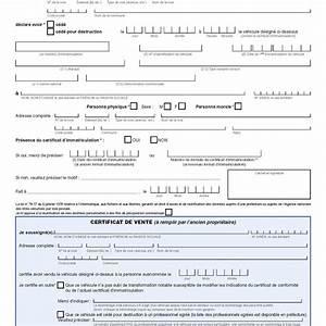 Certificat De Vente Voiture A Imprimer : formulaire certificat cession vehicule vierge ~ Gottalentnigeria.com Avis de Voitures