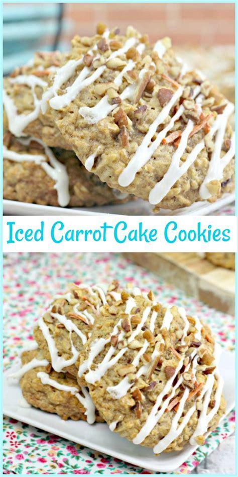 iced carrot cake cookies pams daily dish