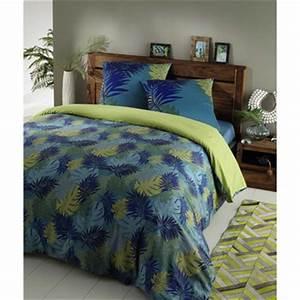 Parure De Lit Tropical : parure de lit parures de lit en coton maisons du monde ~ Teatrodelosmanantiales.com Idées de Décoration