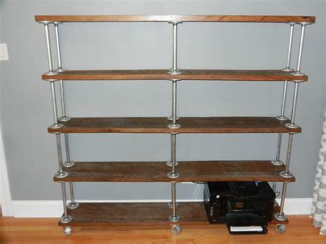 Galvanized Pipe Bookcase