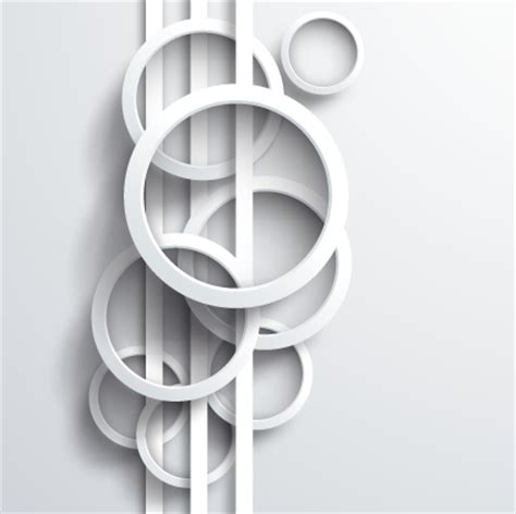 white circle background design vector