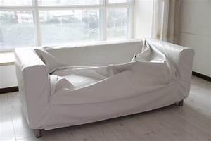 Leather slipcover for ikea klippan sofa for Sofa slipcovers for leather furniture