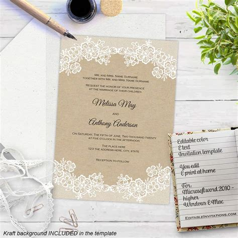wedding invite template download free download wedding invitation templates sample