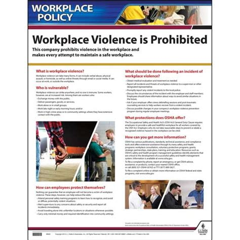 Free Workplace Policy Template Workplace Violence Policy Poster
